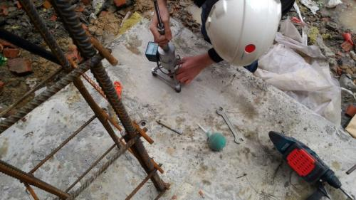 Подземная парковка многоэтажного жилого дома по ул. Есенина. Контроль набора прочности бетона методом отрыва со скалыванием. (2)